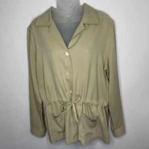 Tommy Bahama 100% Silk Button Down Blouse Size L